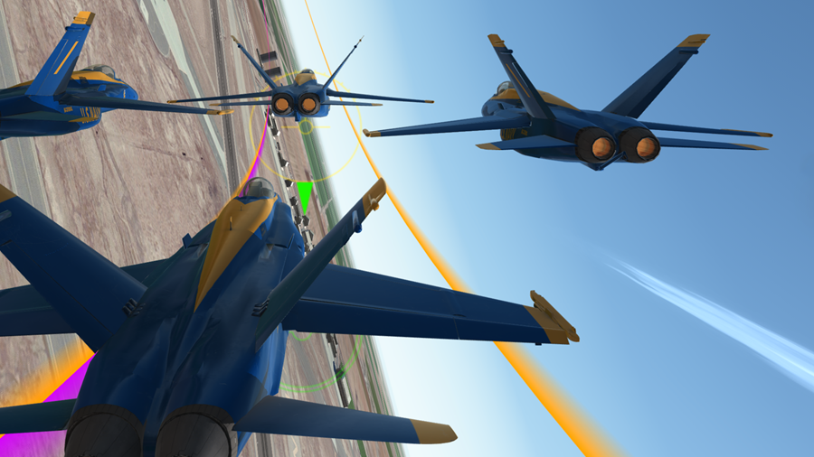 Blue Angels Aerobatic Flight Simulator Screenshots