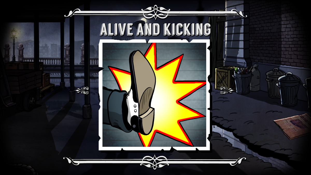 alive and kickin 39 achievement in guns gore cannoli. Black Bedroom Furniture Sets. Home Design Ideas