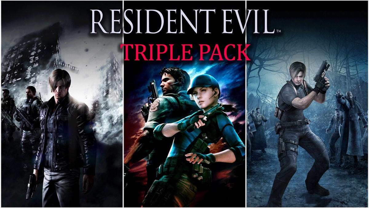 Hasil gambar untuk resident evil triple pack