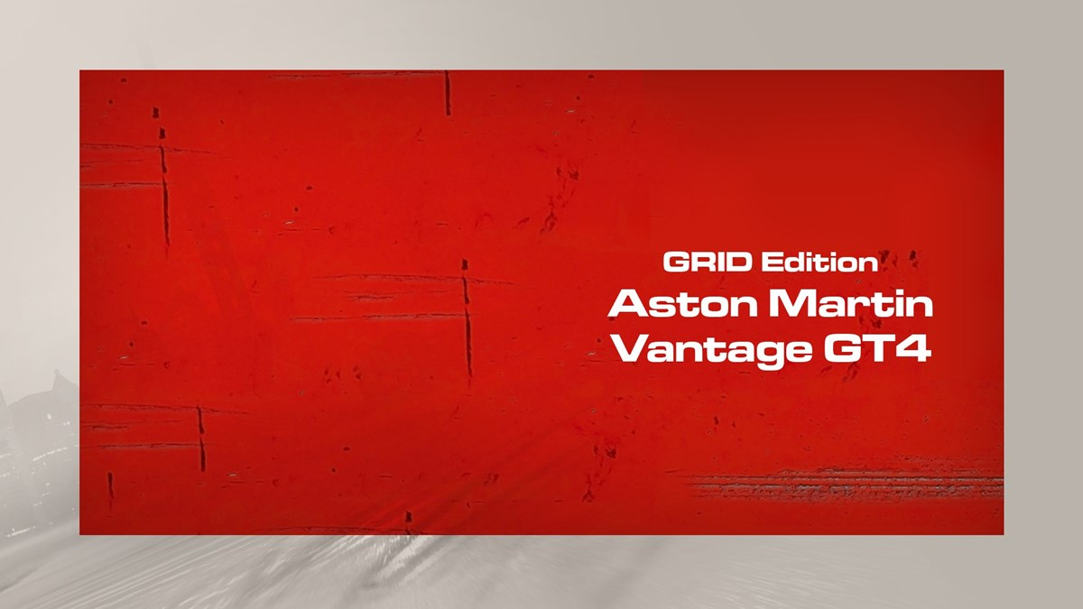 Grid Edition Aston Martin Vantage GT4 on Xbox One