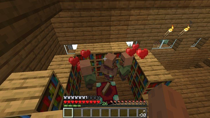Minecraft Villagers are Working, Sleeping, and Breeding