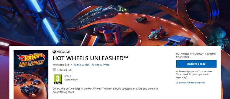 Descubren Hot Wheels Unleashed en la Microsoft Store 2