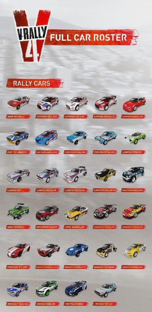 v rally 4 reveals all 52 vehicles. Black Bedroom Furniture Sets. Home Design Ideas